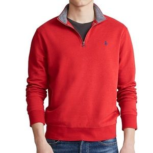 Polo Ralph Lauren Jersey Quarter-Zip Pullover Top